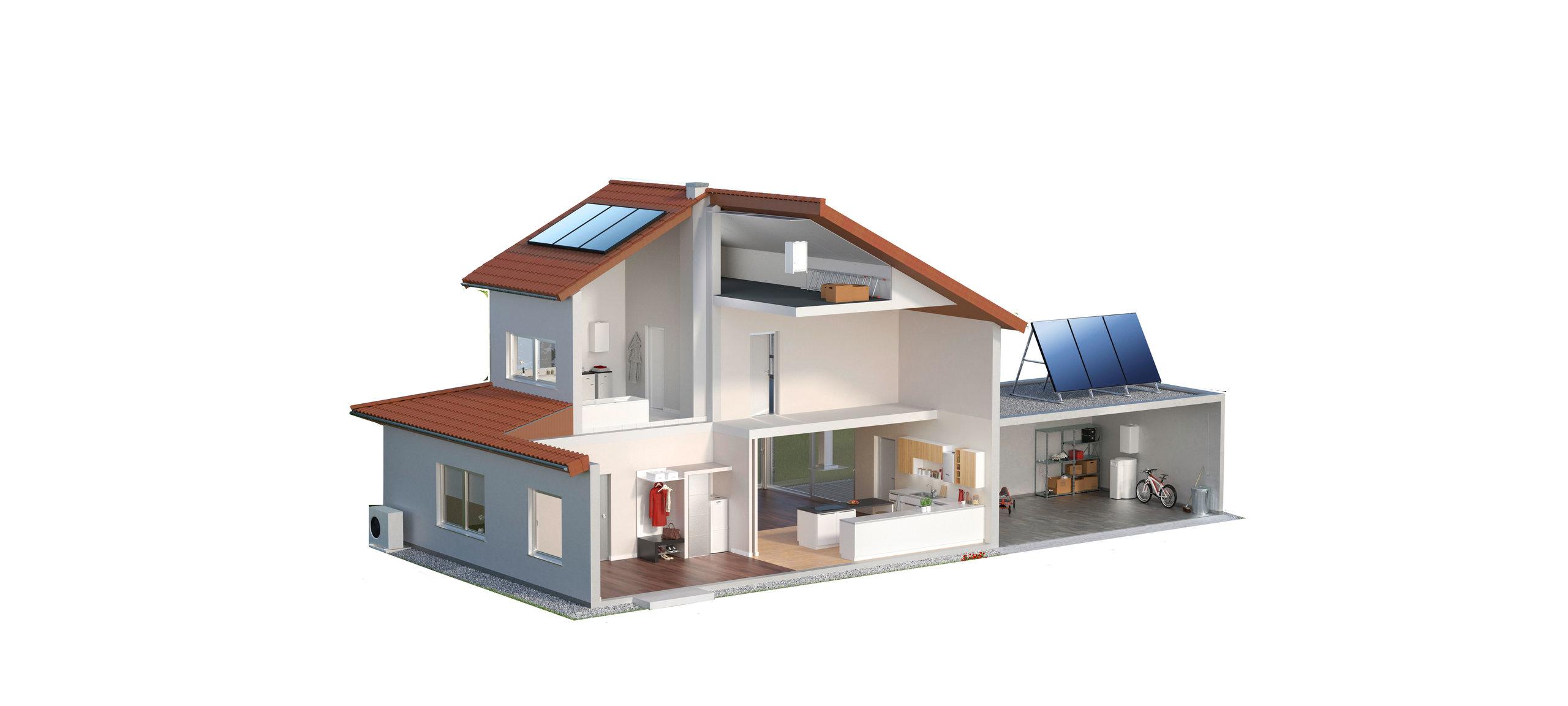 Climatización por bomba de calor alimentada por paneles solares