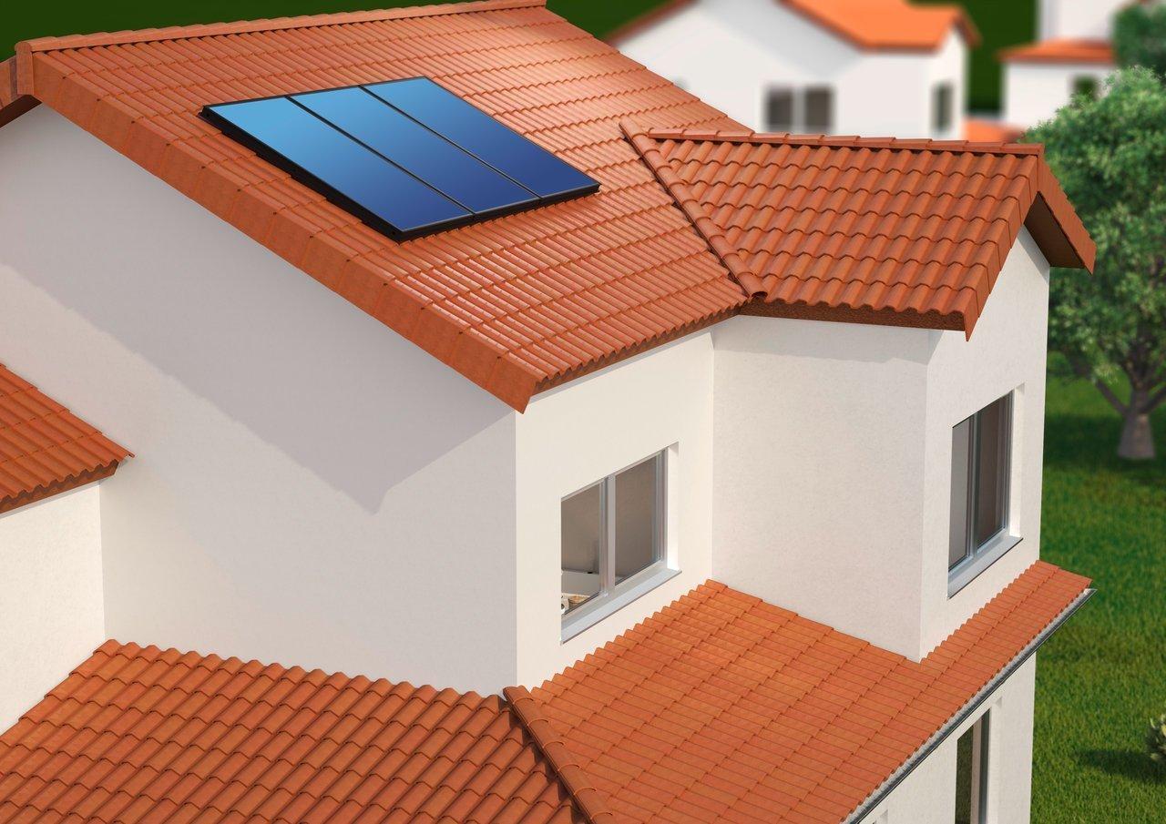 placa solar en tejado
