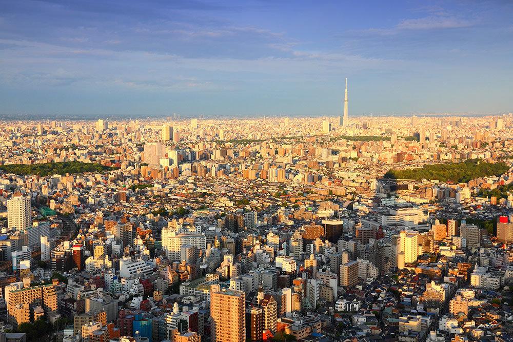 vista aerea de una ciudad