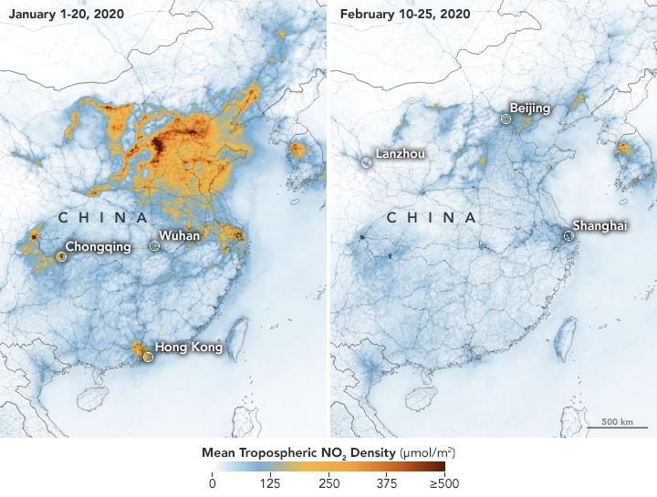 Desplome de la contaminación en China