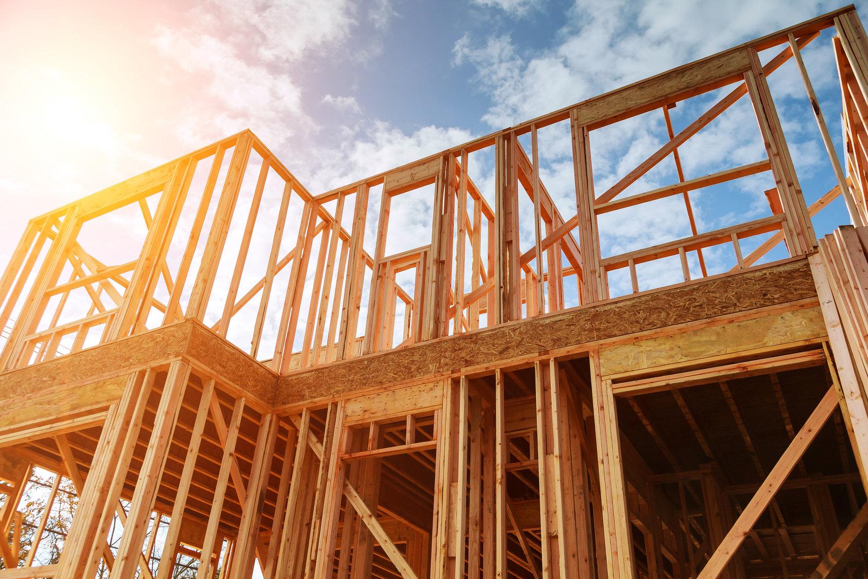 estructura de una casa de madera