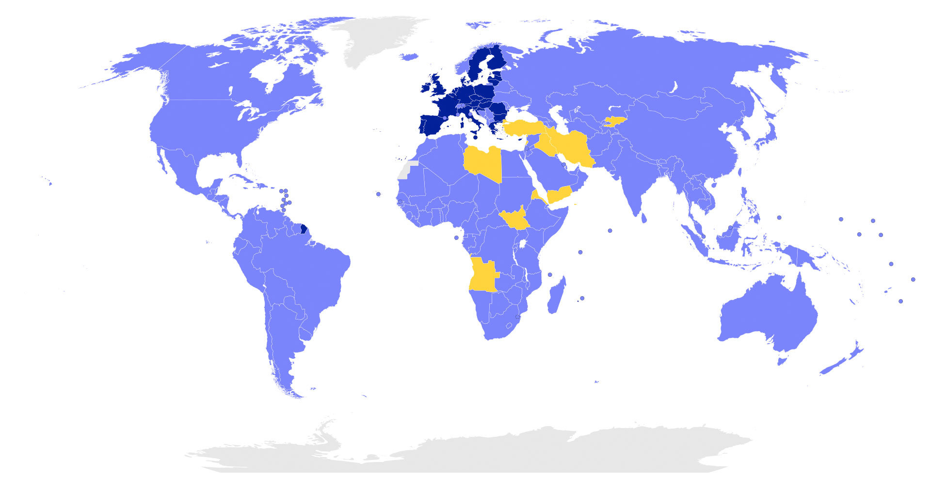 mapa mundi del acuerdo de paris