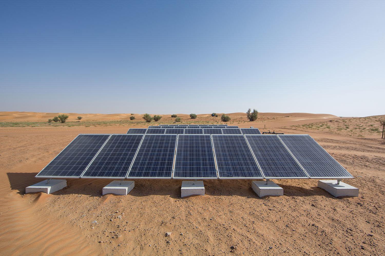 placas solares en un desierto
