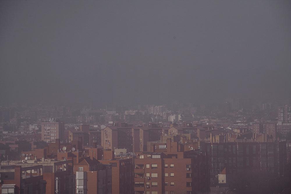 Polución sobre Madrid