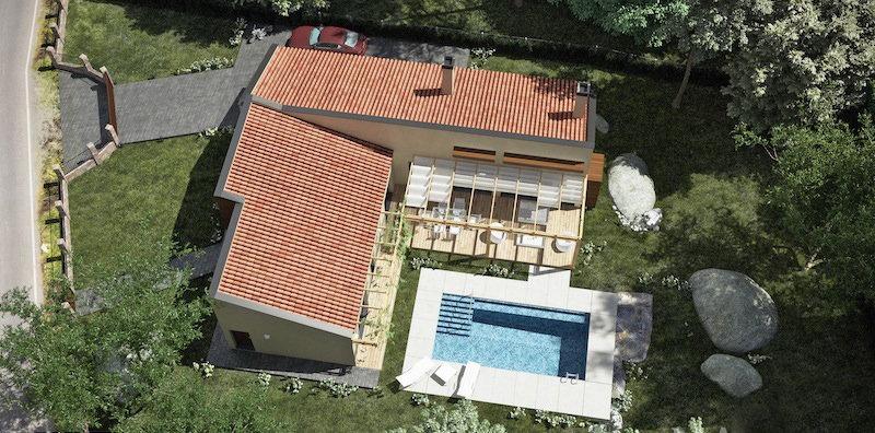 chalet pinosol con bomba de calor para piscina